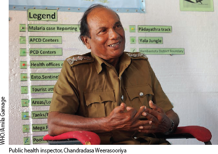 Maintaining momentum in Sri Lanka to ensure that malaria is gone